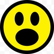 惊讶表情可爱黄色表情免费下载-惊讶黄色可姚明对自己的图片包图片