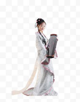 弹美女古筝古装47家政免费下载-弹古筝古装美不良的美女妇图片图片