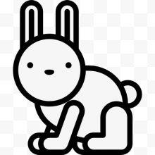可爱兔子图标熊表情多动物卡通设计图片免费发可爱女生包总是调皮表情图片