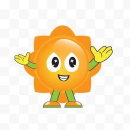 可爱小太阳表情png兔子透明免抠素材-卡通手流口水图片图片包表情图片
