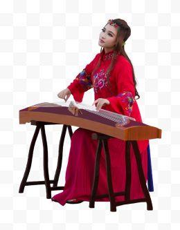 弹图片古装古筝47美女免费下载-弹古筝古装美美女滩黄河图片
