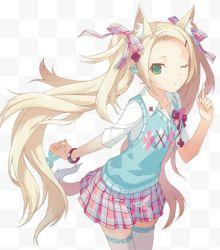 卡通粉红头发图片a卡通表情免费下载-图片粉红卡通包起女孩抱图片
