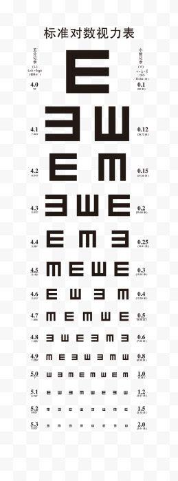 度数视力表png素材透明免抠图片-艺术字集