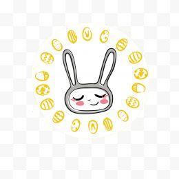 可爱动物图标熊兔子多卡通表情设计图片免费了跪情包表图片